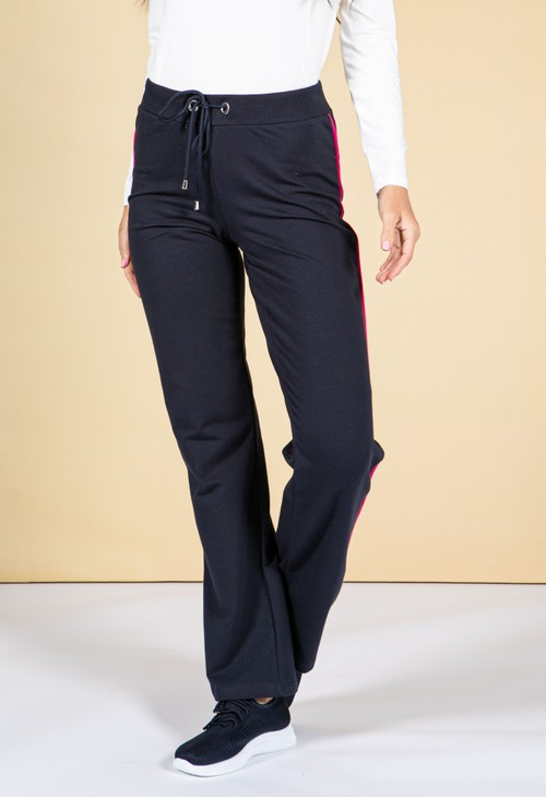 Pamela Femme Navy Straight Leg Joggers