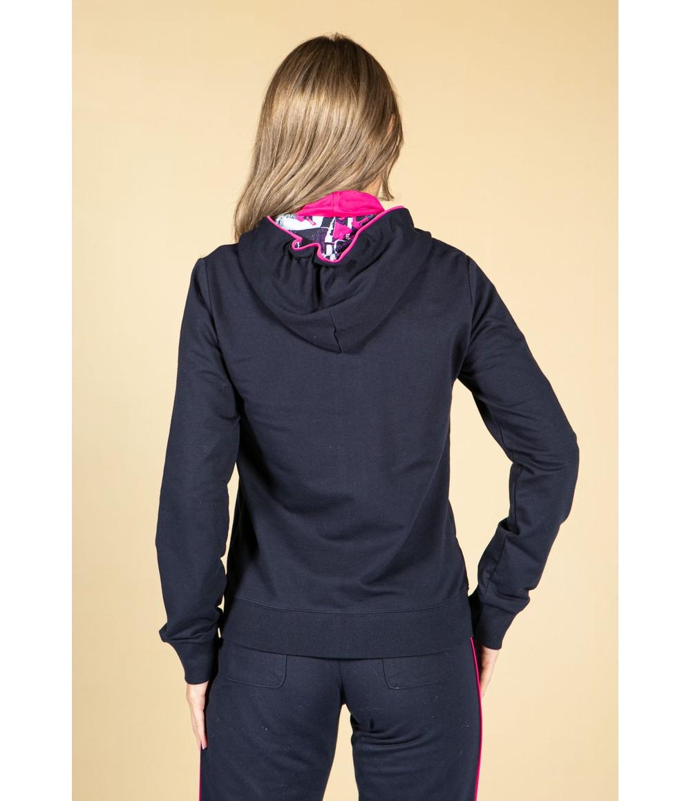Pamela Femme Navy Zip Up Hoodie