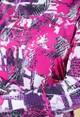 Pamela Femme ROLL NECK LONG SLEEVE TOP IN GRAFFITI PRINT