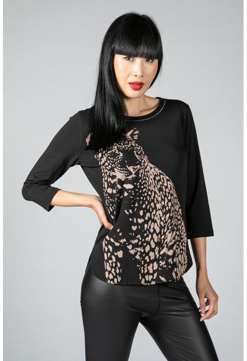 Tuzzi Leopard Design Top