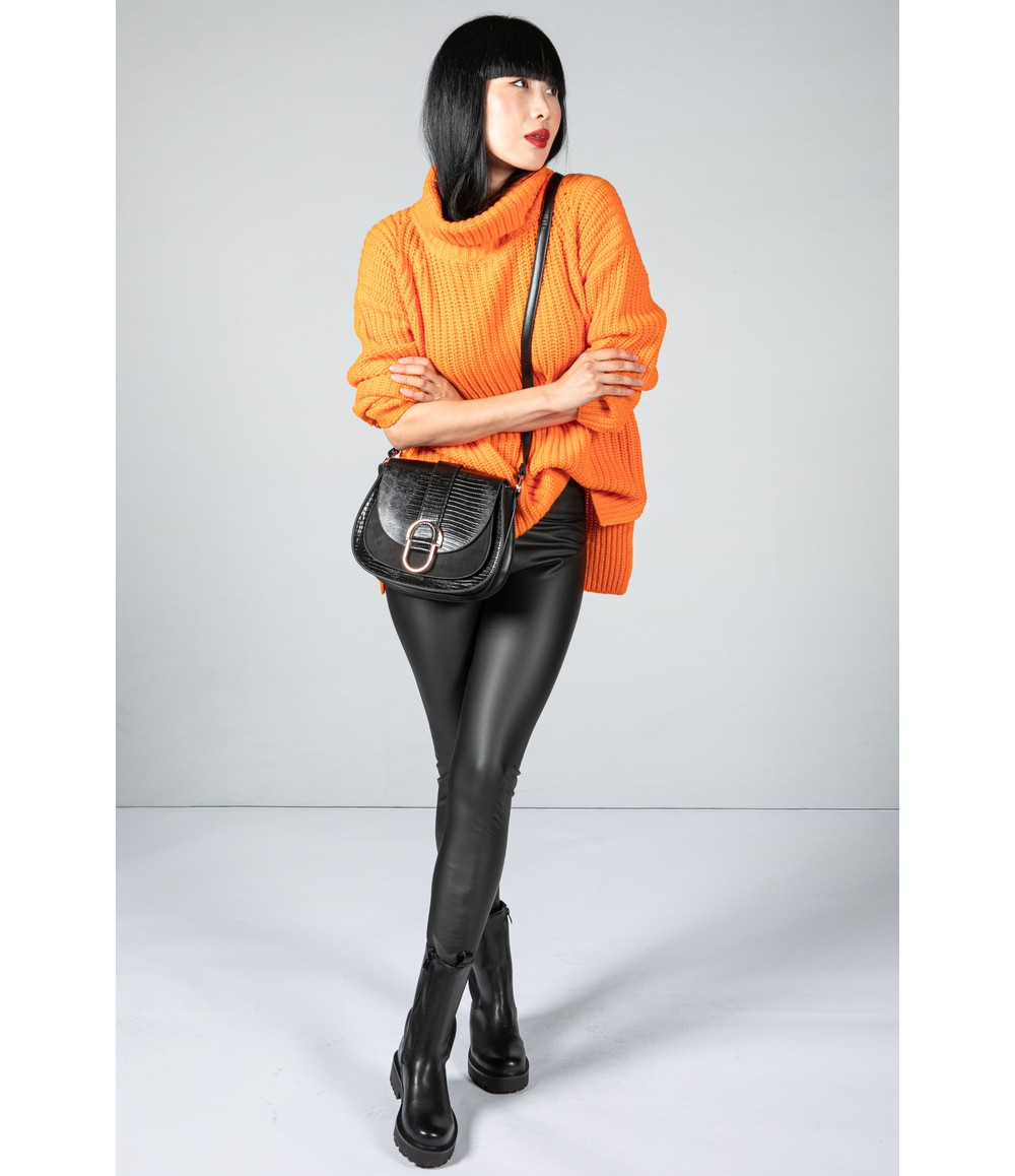 Tuzzi Orange Chunky Knit Jumper