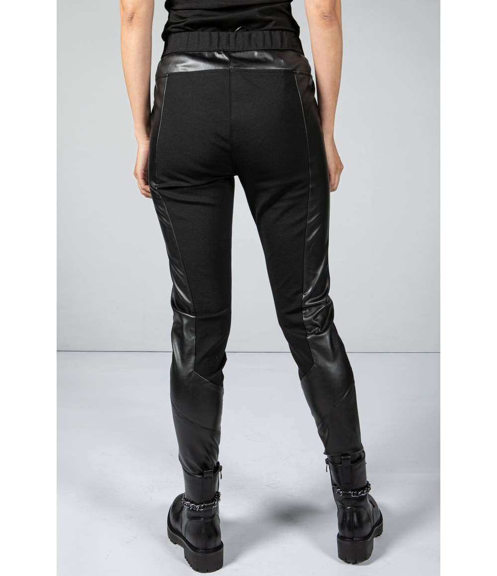 Tuzzi Faux Leather Panel Leggings