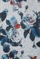 Twist Deep Navy Rose Print Top
