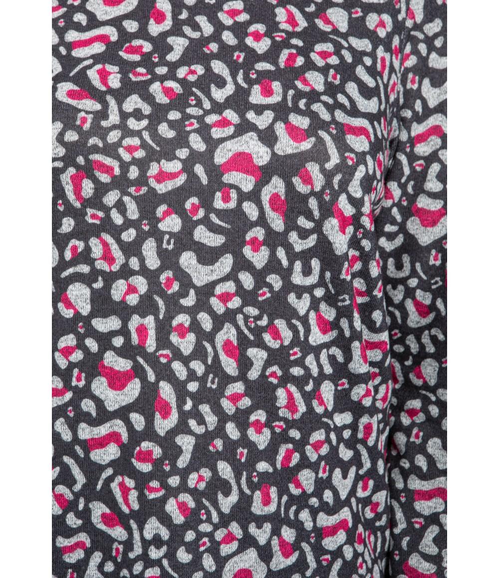 Twist Fuchsia Leopard Print Top