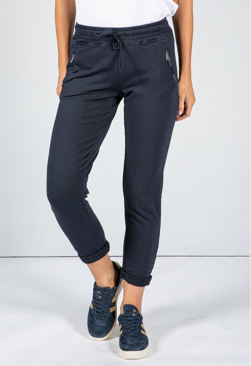 Zapara Navy Jog Pant with Zip Pocket