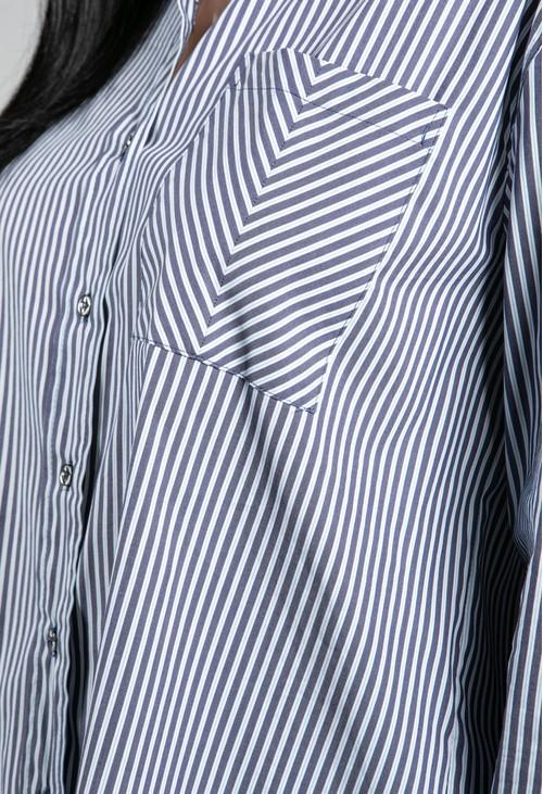Basler Striped Shirt in Blue & White