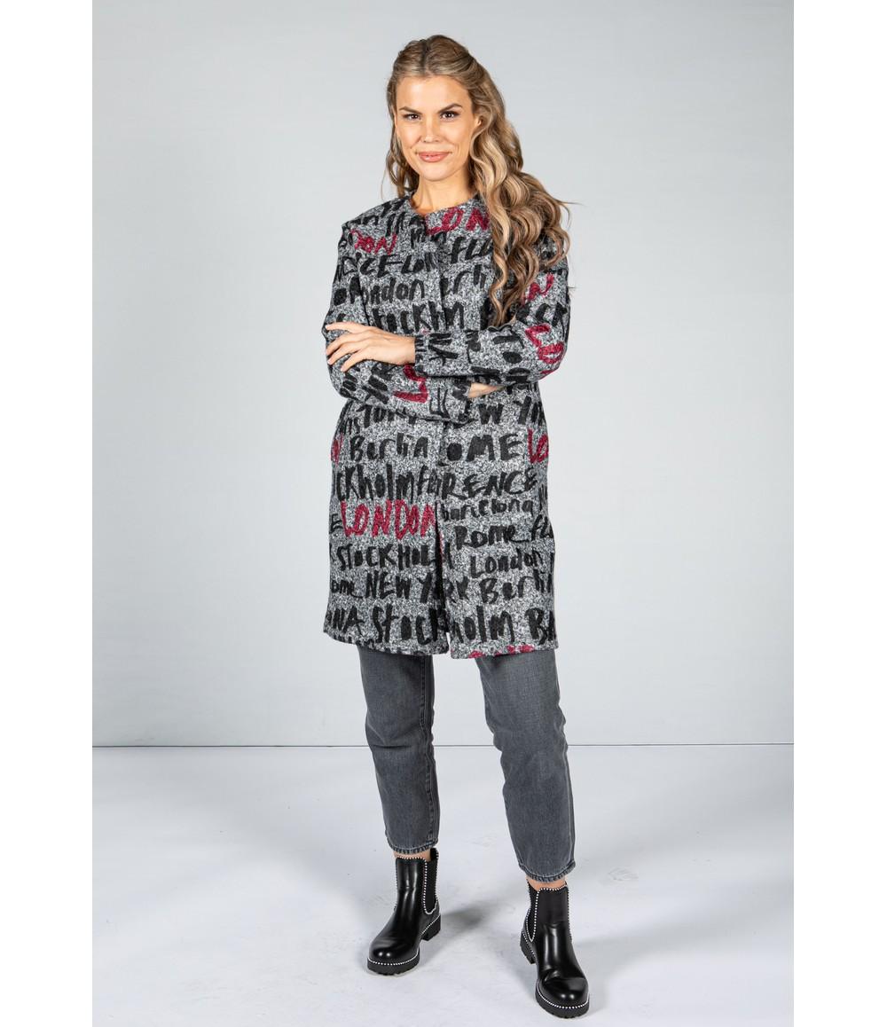 Sophie B Capital Bouclette Wool Coat