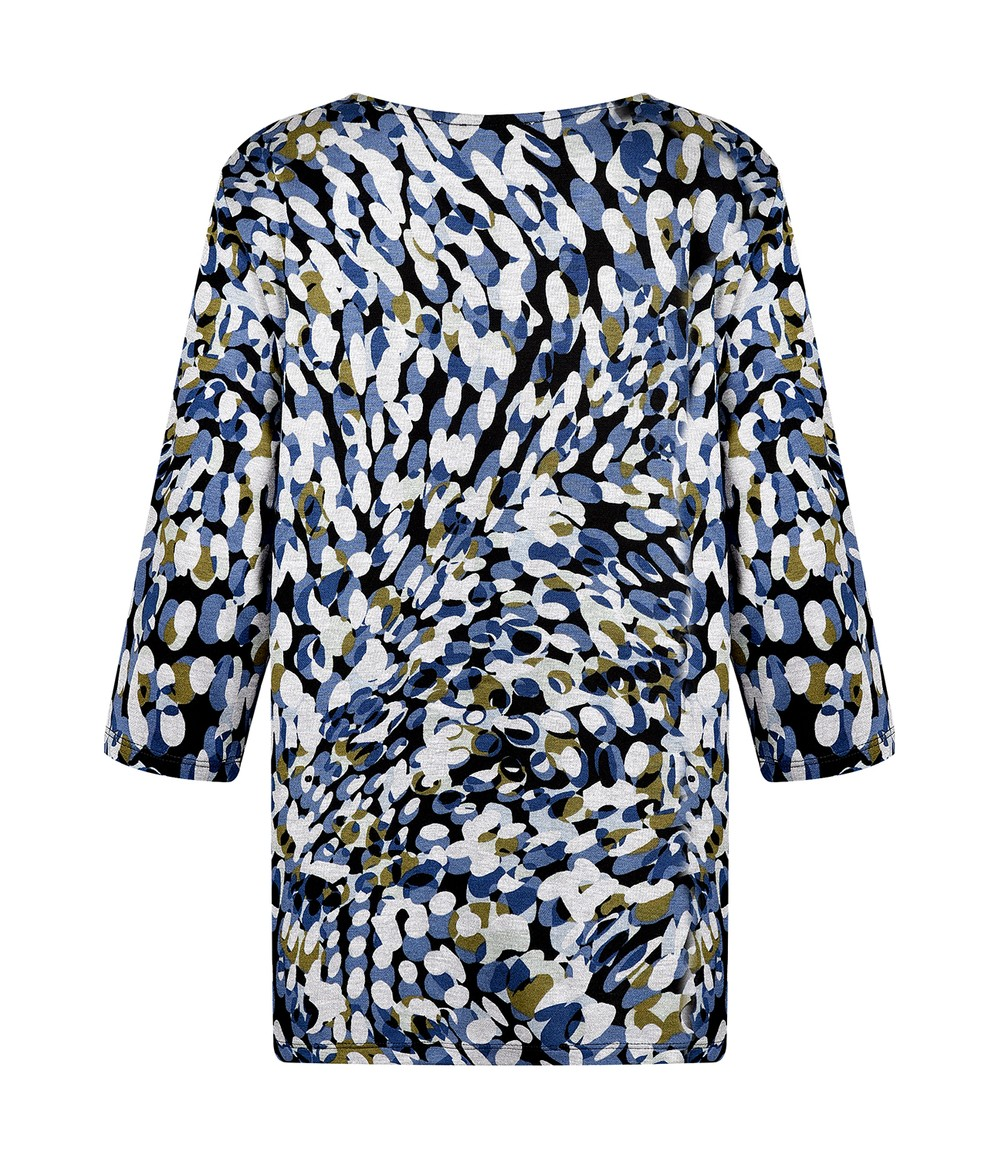 Elanza Abstract Dotted Print Top