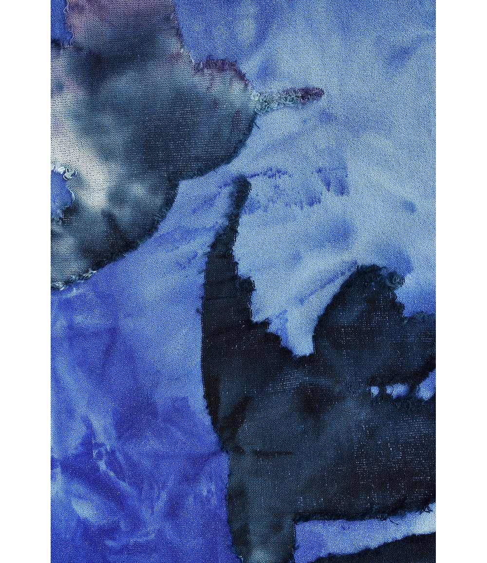 Elanza Tie-Dye Autumnal Print Top in Blue