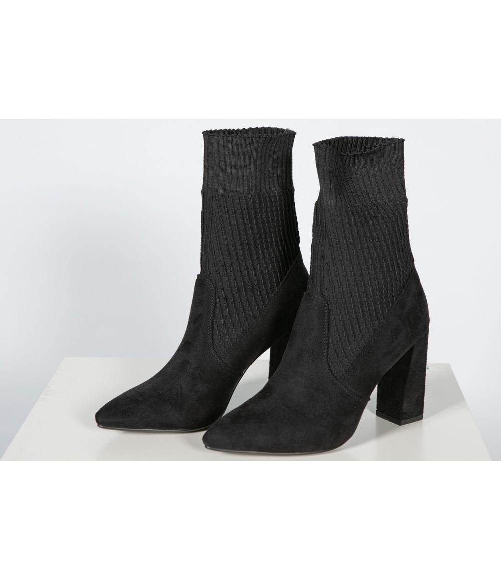 Shoe Lounge Sock Boot In Faux Suede