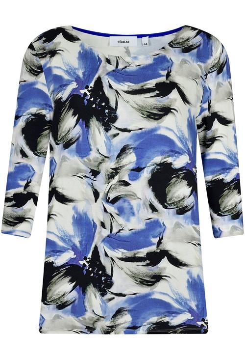 Elanza Hawaiian Blossom Print Top