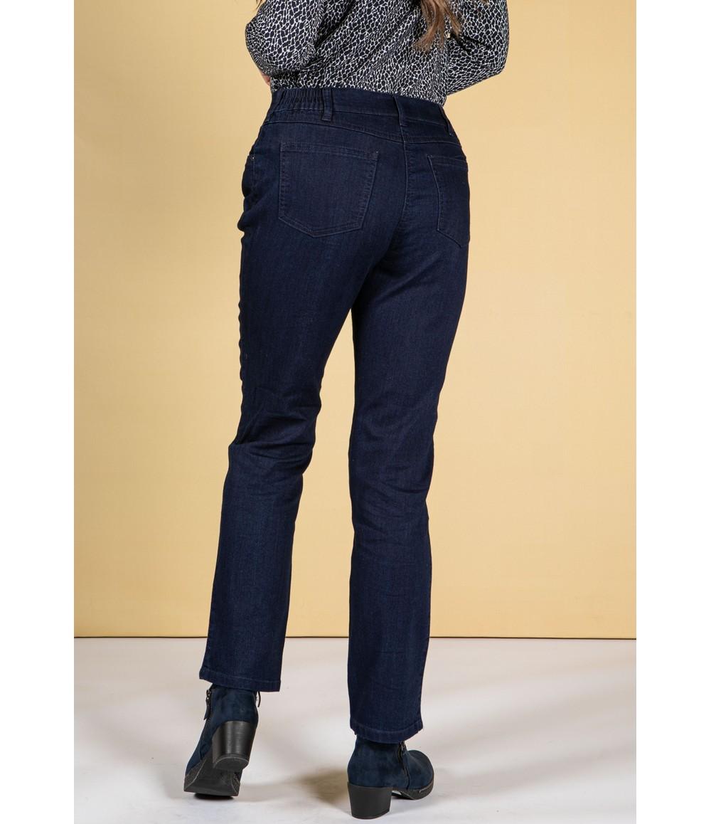 Twist Dark Denim Classic Pull On Trousers