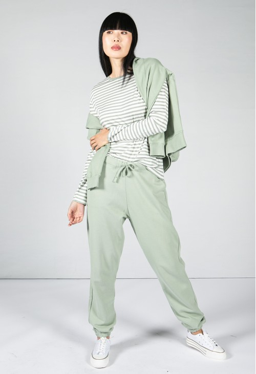 Armedangels Cotton Joggers in Sage Green
