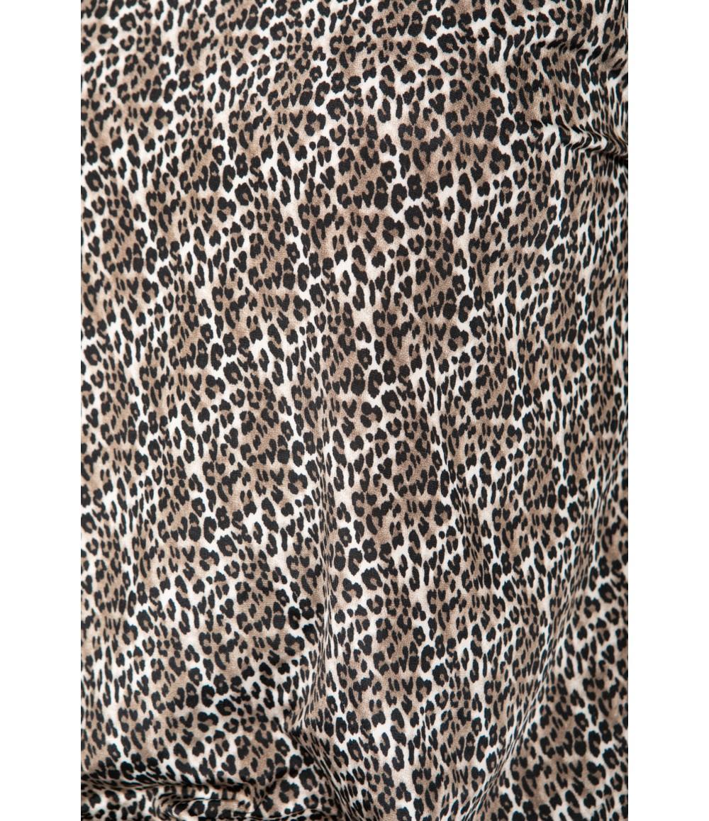 Zapara Leopard Print Long Sleeve Top