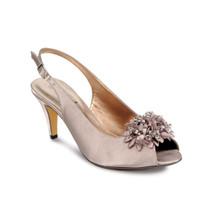 Lunar Taupe Peep Toe Shoe