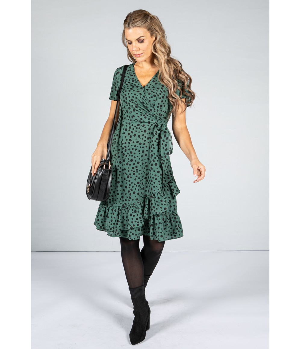Pamela Scott Mini Animal Print Dress