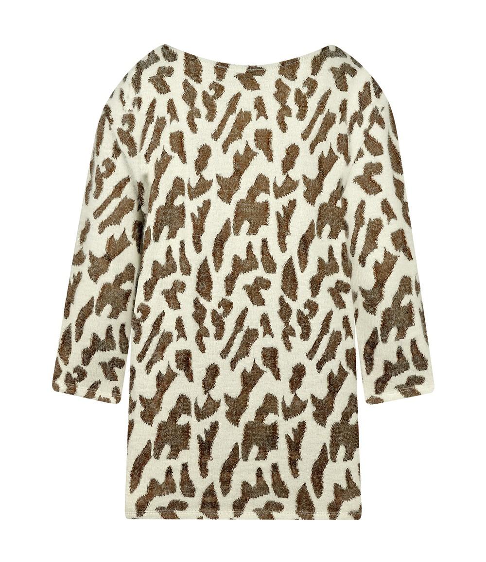 Elanza Giraffe Print Soft Touch Top