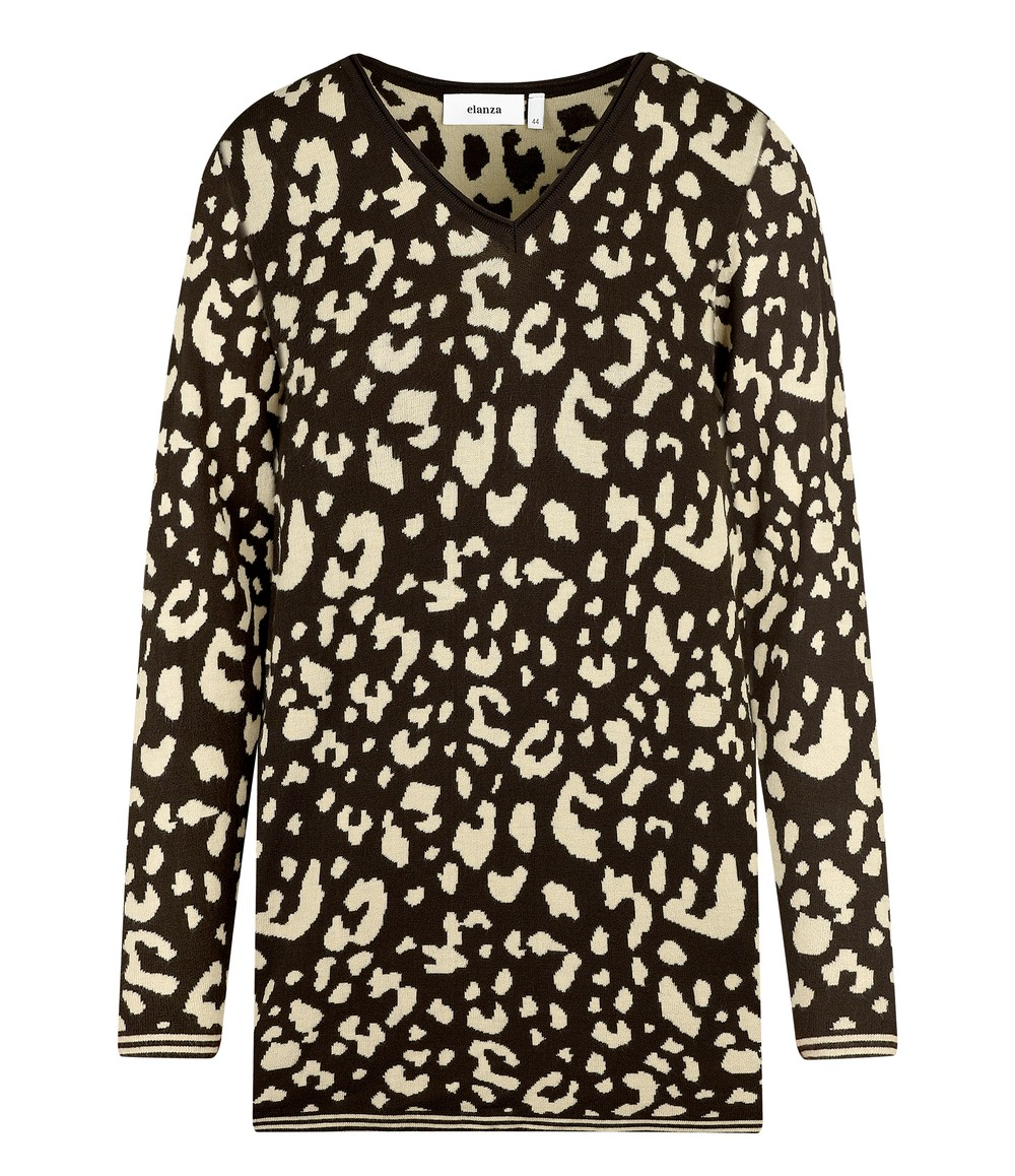 Elanza Chocolate Leopard Print Top