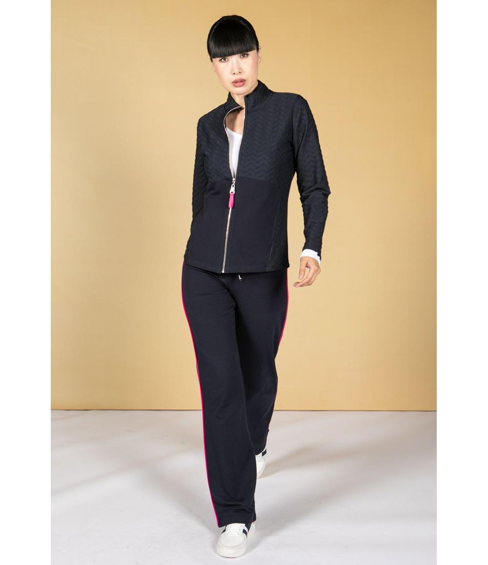 Pamela Femme Navy Zig Zag Jacket