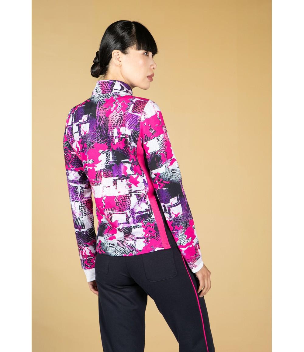 Pamela Femme Magenta Graffiti Print Jacket