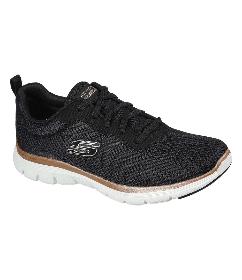 Skechers Sporty lace-up sneaker in Black