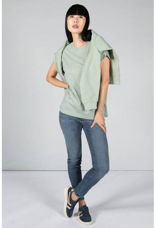 Armedangels CHANGE FOR NATURE T-SHIRT IN SAGE GREEN