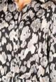Pamela Scott Cropped Printed Blouse