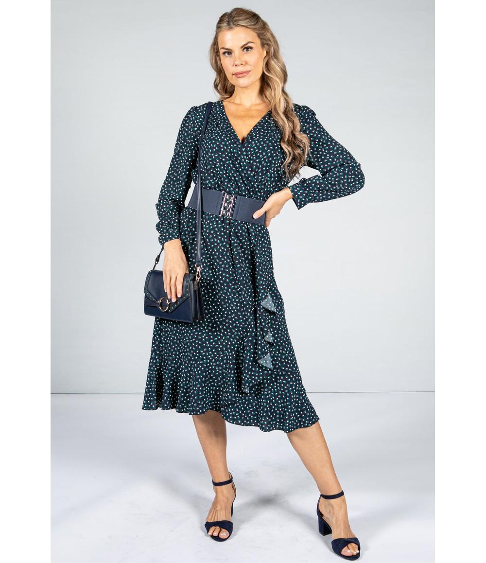 Pamela Scott Mini Geo Dress in Navy