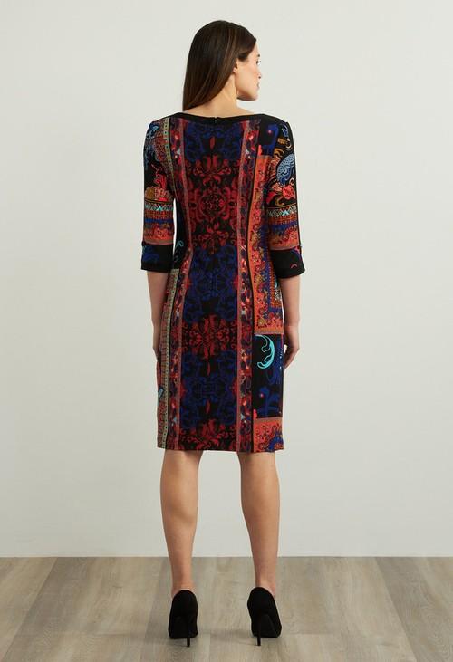 Joseph Ribkoff Mixed Paisley Print Dress Style