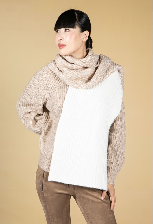 Opus Abolta Two Tone Knitted Scarf