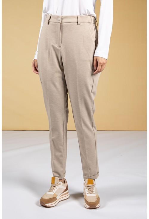 Opus Melina City Trousers in cashmere cream melange