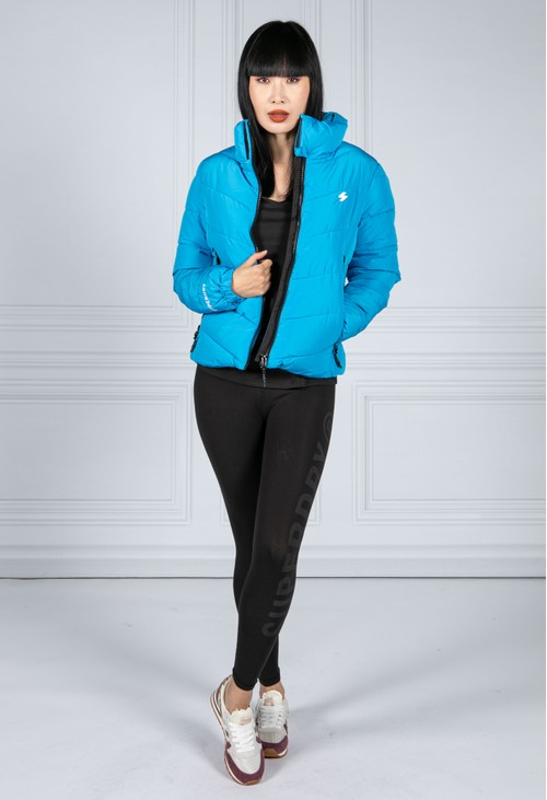 Superdry Non Hooded Sports Puffer Jacket in Aqua
