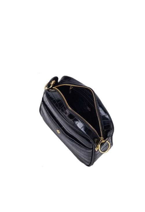 Gionni Zircon Croc Effect Box Bag