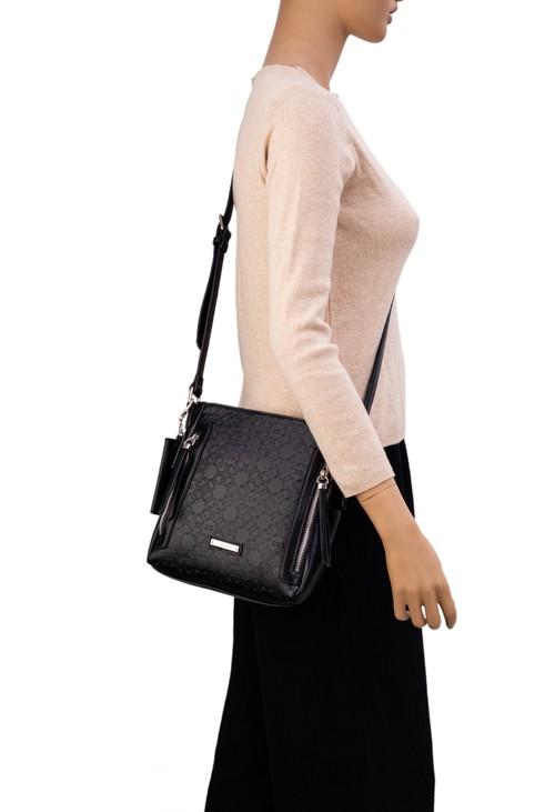 Gionni Ivory Embossed Xbody Bag