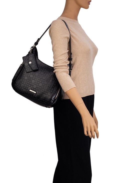 Gionni Ivory Hobo With Logo Embossing