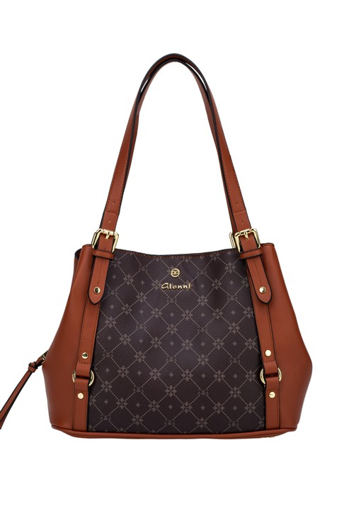 Gionni Sunstone Monogram Shoulder Bag