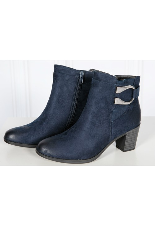 Shoe Lounge Navy shimmer Ankle Boot