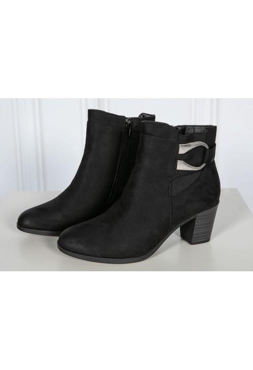 Shoe Lounge Black shimmer Ankle Boot