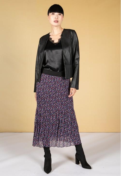 Sophie B Confetti Print Plisse Skirt