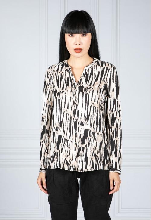 Tinta Style Animal Stripe Print Shirt