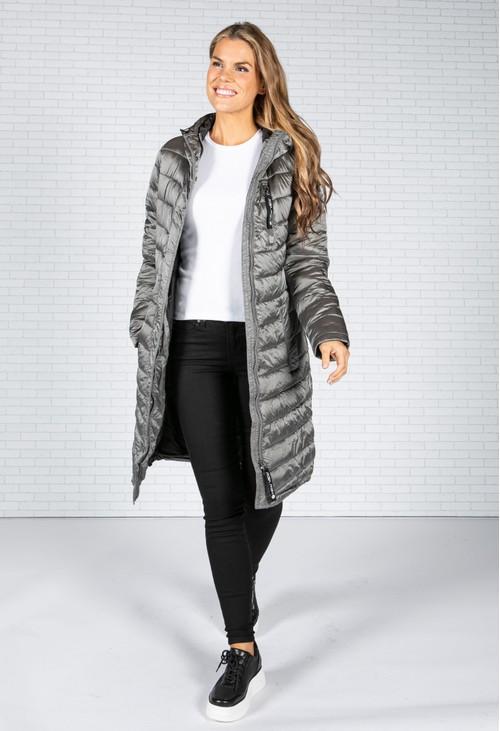 Pamela Scott Silver Grey Padded Coat