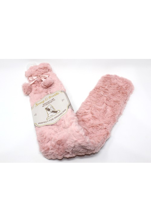 Something Special Super Soft Long Hot Water Bottle in Pink