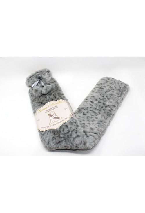 Something Special Super Soft Long Hot Water Bottle in Grey