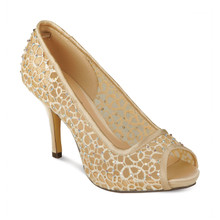 Lunar Gold Mesh Peep Toe Shoes