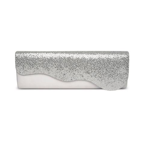 Lunar Silver Diamonte Clutch Bag