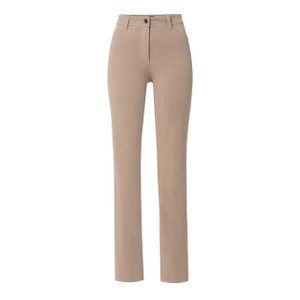 Olsen BASIC TROUSERS MONA STRAIGHT - SAND