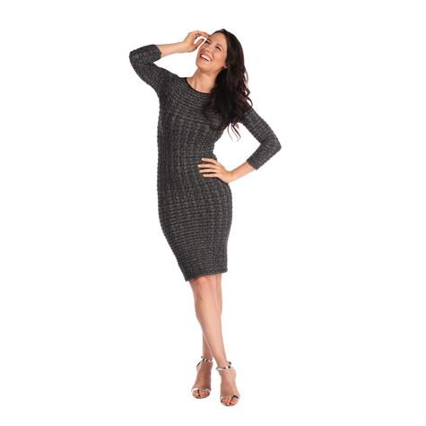 f99144f7edda Tees By Tina Grey Black Sparkle Dress   Pamela Scott