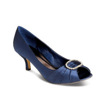 Lunar Navy Peep Toe Shoe