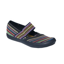 Cotswold Summer Casual Black Multi-Print Shoe