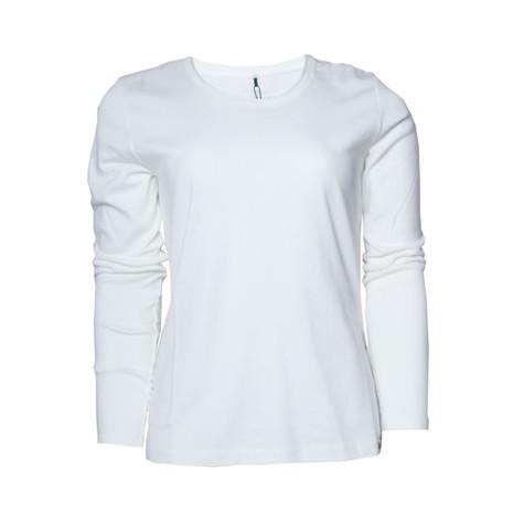 b3d6d86bc1377e Olsen Off White Long Sleeve Top
